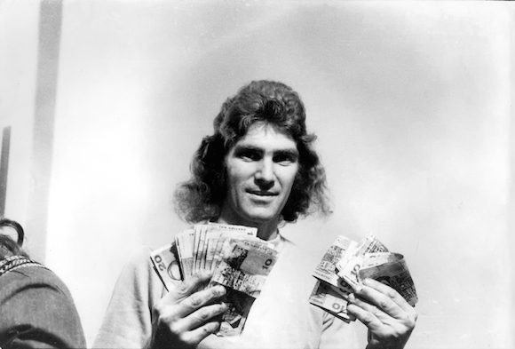 ron clayton with some money