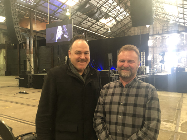 NAS's Shane Bailey and Stage & Audio's Tim Buchholz at the dBTechnologies launch